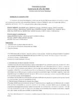 Compte-rendu Conseil Municipal 12 septembre 2020