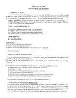 Compte-rendu Conseil Municipal 27 octobre 2020